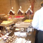 Dessert counter with Chocolate Houses