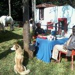 Myself with Mr. Vishu Kaliappa having Continental breakfast at the lawn :)