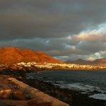 Blick auf Playa Blanca vom Leuchtturm aus!