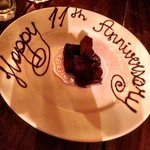 Nice touch in bistro for our anniversary