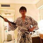 The Last Samurai with Hotel Kimono