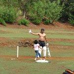 njoying session of cricket