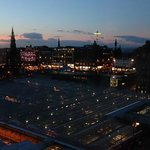 view of Princes St from room 445
