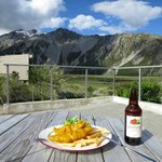 Fish and Chips with a stunning view