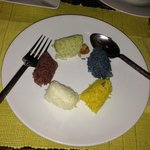five different coloured rice