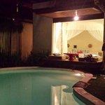Villa Surga pool/garden area