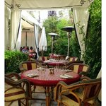 The Courtyard of the Chateau Marmont by Jeremiah Christopher