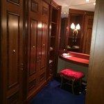 Dressing room - a tad drab