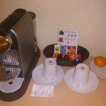 Superior room Nespresso machine