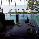 pool view from restaurant
