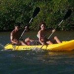 Kayaking thru mangles with Aleli