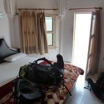 Our double room overlooking the Ganges
