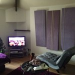 Living room, with sky tv!