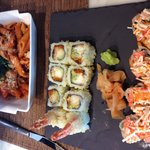 Sushi and pasta ...