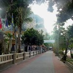 Street in front of hotel-- nice early morning before hawkers