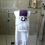 Salle de bain privée avec douche double en céramique