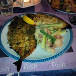 Roasted Fish served after our seafood pasta