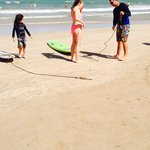 Ritz beach offers surfing lessons - Bravo! Resort can not control but waves not too high but dec