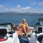 Boating at Lake Arenal