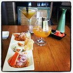 Appetizer and cocktails