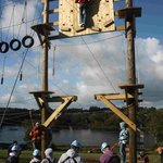 Start of the Aerial Adventure course