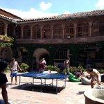 Plaza donde la gente del hostel se reúne
