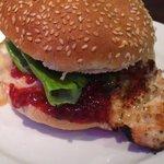 chicken cranberry/gorgonzola burger