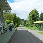 Le Parc linéaire Petit Témis, bureau d'information, des abris, des aires de pique-nique, Dégelis