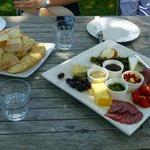 Antipasto platter on wine tour - YUM!