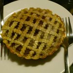 Apple Pie. Sturdy Crust, balanced filling, pretty lattice work. Loved it!