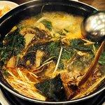 Pork bone soup with potato