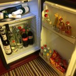 Well stocked minibar at good prices