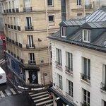 view from hotel room on rue de malte, quiet street