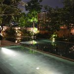 Poolside in night