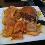 Great Burger, Mac N Cheese and Crispy Chips