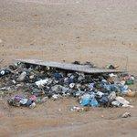Garbage pile next to camp