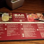 The smaller portion menu you will find at the bar.