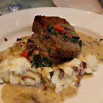 Meatloaf with Andouille Sausage and Mashed Potatoes