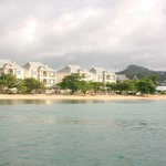 View of resort on way back from Pigeon Island