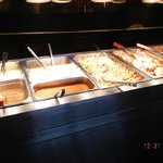 lunch buffet hot plate table