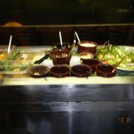 lunch buffet cold table