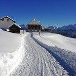 Winterwanderweg zum Hotel Belalp