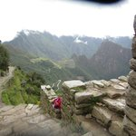 This is from the Sun Gate, first sight of MP from the Inca Trail
