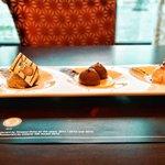 The Halwa-Jamun-Malai platter -dessert