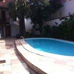 Hall de entrada para os apartaentos piscina