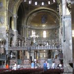 Impressive Basilica di San Marco with plenty of golden details