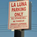 Parking can be tight downtown. La Luna provides free parking to patrons, a big plus.