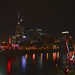 Night/river view of downtown Nashville