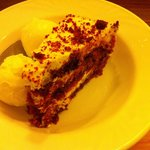 The Red Velvet Cake served in the pub...yummy!