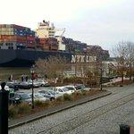 Ship leaving the port